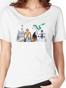 Ghibli Friends  Women's Relaxed Fit T-Shirt