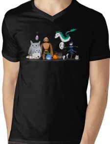 Ghibli Friends  Mens V-Neck T-Shirt