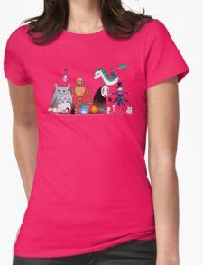 Ghibli Friends  Womens Fitted T-Shirt
