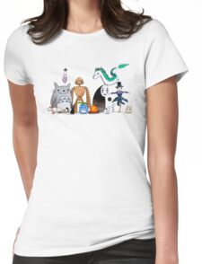 Ghibli Friends  Womens Fitted T-Shirt
