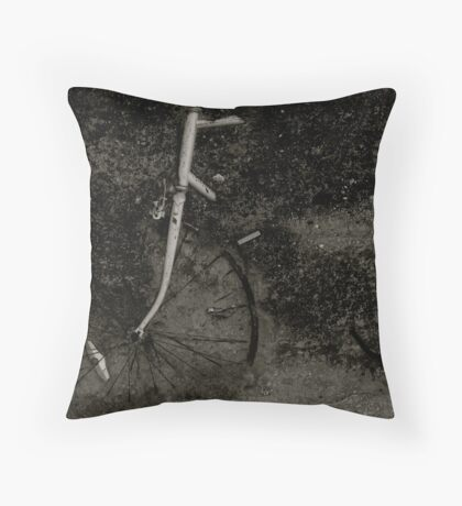 Bicycle in Concrete  Throw Pillow