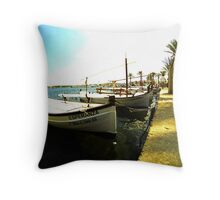 boats in the sun  Throw Pillow