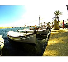 boats in the sun  Photographic Print