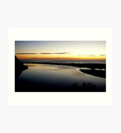 """SILVER WATER AT THE """"INLET"""" Art Print"""