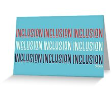 Inclusion Cubed Greeting Card