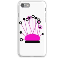 PINK and BLACK Art, POPPY LOPS collectable gifts iPhone Case/Skin