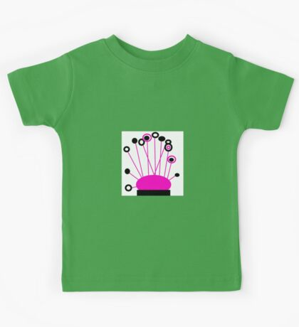 PINK and BLACK Art, POPPY LOPS collectable gifts Kids Tee