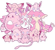Cute pink Pokemon by Anicchan