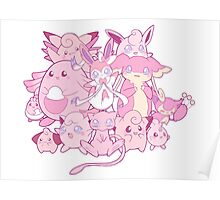 Cute pink Pokemon Poster