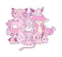 Cute pink Pokemon Photographic Print