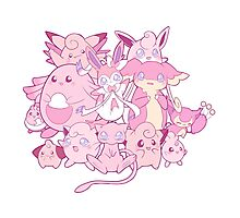 Cute pink Pokemon Photographic Print