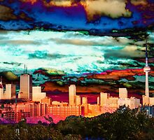 The City Aglow  by Keith Vander Wees
