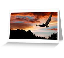 EAGLE DAWN Greeting Card