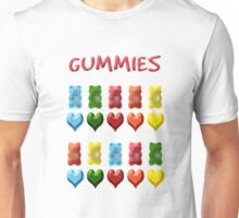 Gummy Bears, Jelly Hearts Unisex T-Shirt
