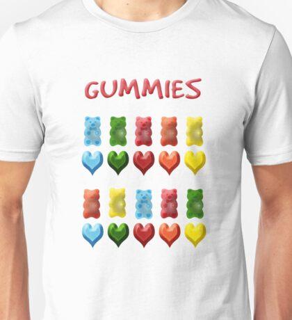 Gummy Bears, Jelly Hearts Unisex T-Shirt
