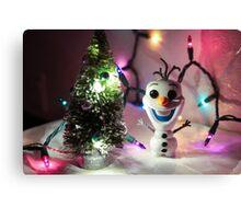 Olaf Christmas Canvas Print