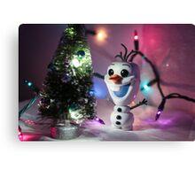 Christmas Olaf Frozen Canvas Print