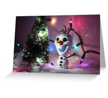 Christmas Olaf Frozen Greeting Card