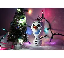 Christmas Olaf Frozen Photographic Print