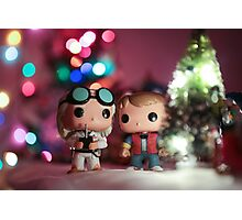 Christmas with Marty and Doc Photographic Print