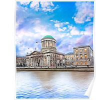 Irish Four Courts In Historic Dublin Ireland Poster