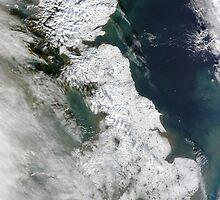 UK under snow, United Kingdom under a blanket of snow - fantastic satellite image by verypeculiar
