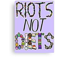 Riots Not Diets Feminist Slogan Canvas Print