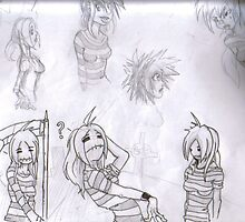 miss guillotine sketches by rowanpunk