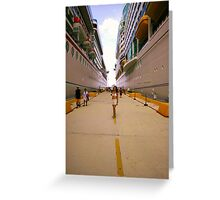 Very tall ships Greeting Card