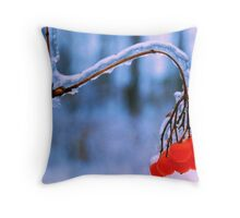Ice Berries Throw Pillow
