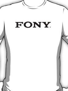 SONY/FONY Logo Parody (BLACK) T-Shirt