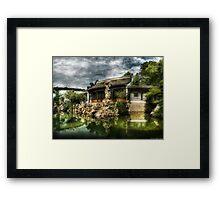 The Chinese Garden Framed Print