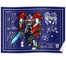 Beast Hunters Optimus Prime  Poster