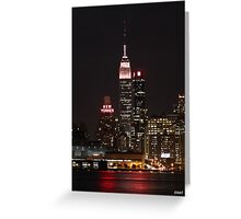 Empire State Building Wearing Pink Greeting Card
