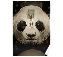 Panda window cleaner 02 Poster