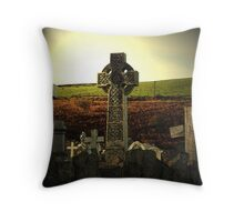 Celtic gravestone Throw Pillow