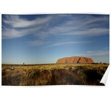 Uluru before Sunset (but after Moonrise) Poster
