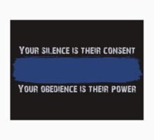 Blue Code of Silence Sticker by Michael Bourgeois