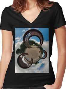 Lifford Coins, County Donegal Women's Fitted V-Neck T-Shirt