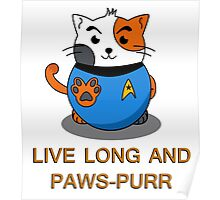 LIVE LONG AND PAWS-PURR Poster