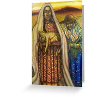 Two Women with Cat Greeting Card