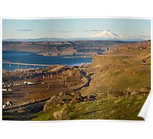 Mount Hood and the Columbia River Poster
