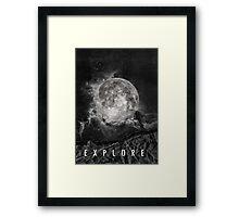 Explore the Moon Framed Print