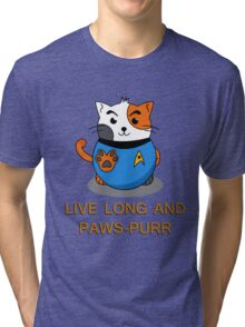 LIVE LONG AND PAWS-PURR Tri-blend T-Shirt