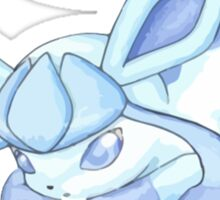 Adorable Glaceon with Seal Sticker