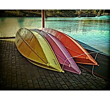 The Wooden Row Boats Photographic Print