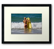 Body-Boarder Framed Print
