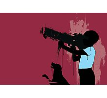 THE BOY WHO WANTED TO DESTROY THE WORLD WITH HIS DOG Photographic Print