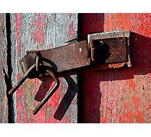 Broken Lock Photographic Print