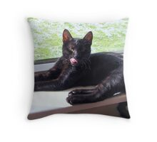 Yeah...what you looking at? Throw Pillow